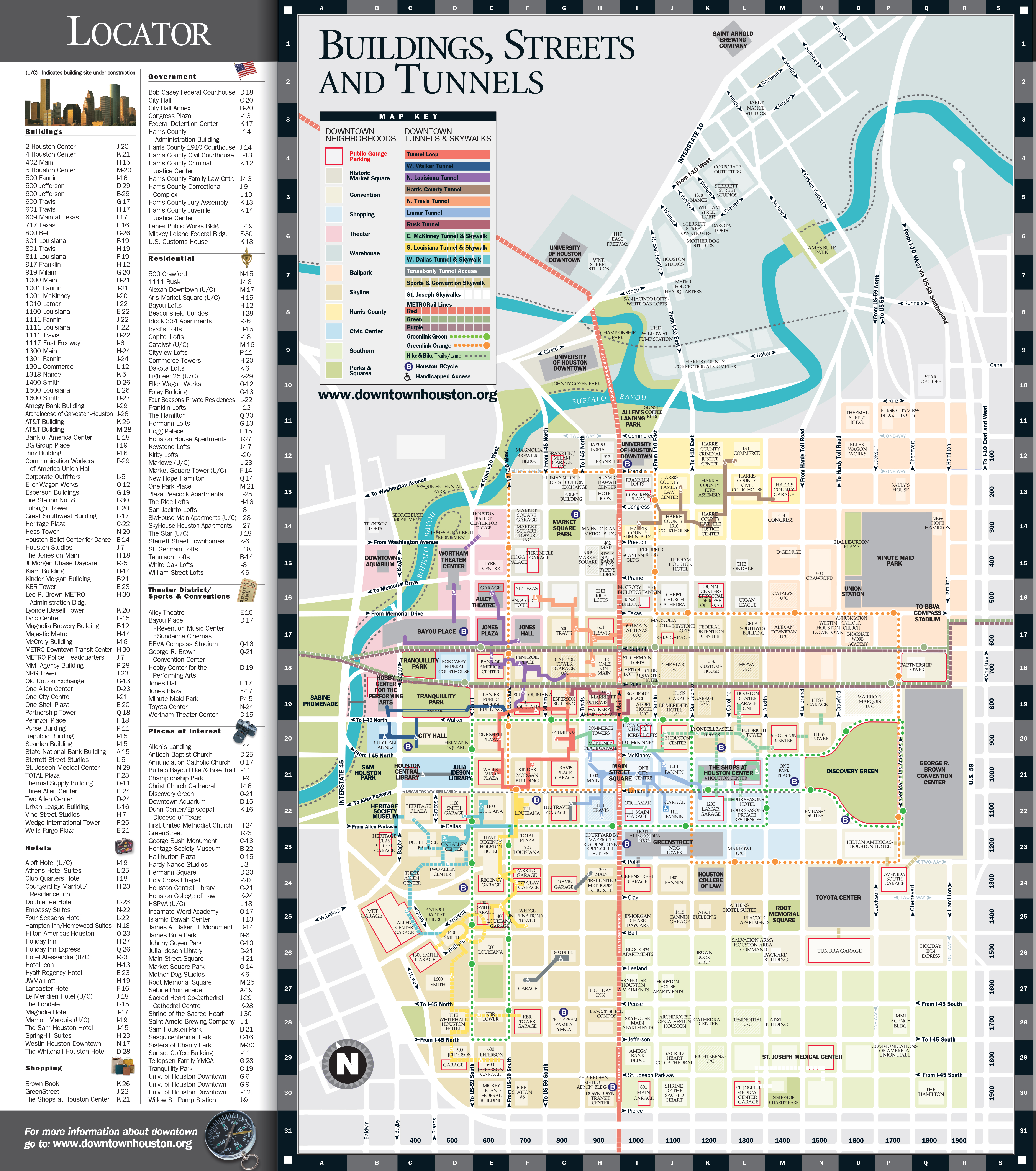 Map Of Downtown Map | Downtown Houston Map Of Downtown